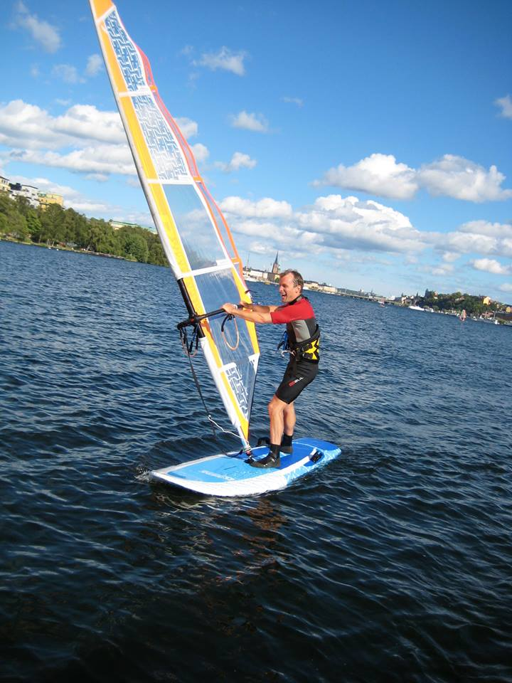 Dynamic Windsurfing city happy